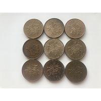 Франция 10 франков - погодовка без повторов