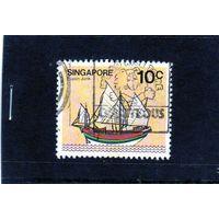 Сингапур. Парусный корабль.