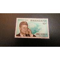 Руанда 1965г. 2-я годовщина смерти Джона Ф. Кеннеди, 1917-1963