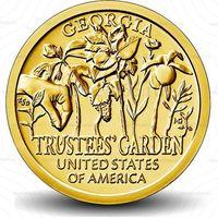 """1 доллар 2019  США Попечительские сады,Джорджия, серия """"Американские инновации"""" двор D UNC!"""