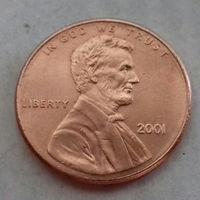 1 цент США 2001, 2001 D, AU