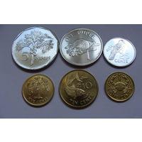 """Сейшельские острова """"Сейшелы""""  набор 6 монет 2004-2010 год  """"Фауна"""""""