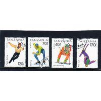 Танзания. Зимние виды спорта.Лыжи,Фристайл,Фигурное катание,Коньки.1994.