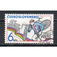 Чемпионат мира по велокроссу Чехословакия 1987 год серия из 1 марки