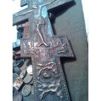 Крест,бронза.