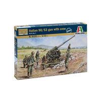 Итальянская пушка 90/53 с расчетом, сборная модель 1/72 Italeri 6122