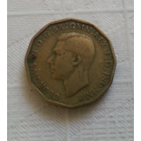 3 пенса 1943 г. Великобритания