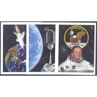 Ангола 1999 Космос. На Луне, 3 блока