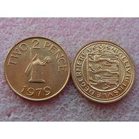 Гернси 2 пенса 1979 UNC