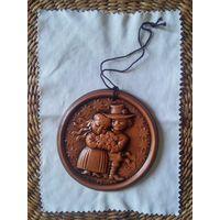 Медальон сувенирный, белорусская керамика - на свадьбу, годовщину свадьбы.