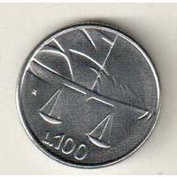 Сан-Марино 100 лира 1990 Шестнадцать веков истории