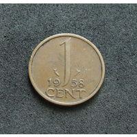 Нидерланды 1 цент 1958