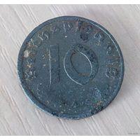 """10 пфенниг 1943 """"А"""" г.в. Германия /из коллекции/"""
