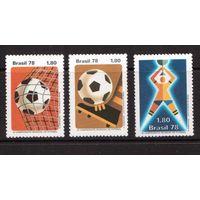 Бразилия-1978(Мих.1643-1645)  ** , Спорт, ЧМ-1978 по футболу