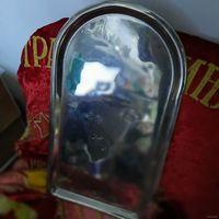 Поднос под самовар. Царский, 1882-1896. Кальчугино. Размер 0 (44,5х24,5). В родном никеле.