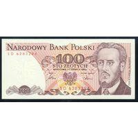 Польша. 100 злотых 1986 года. Серия SD. P143e. UNC