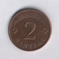 Латвия, 2 сантима 1992 г.