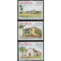 Гвинея - Бисау /1988/ Архитектура / Монументы / Праздник Города КЭШ / 4 Марки