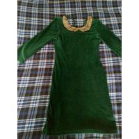 Шикарное зеленое платье
