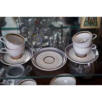 Кофейный сервиз советскмх времён - остатки.