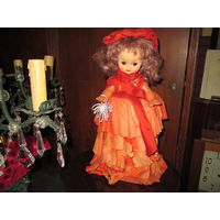 Кукла старинная,высота 40 см.