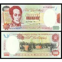 Венесуэла 1000 боливаров образца 1998 года UNC p76c