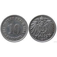 YS: Германия, Рейх, 10 пфеннигов 1914F, KM# 12 (2)