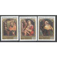 Рождество Искусство Живопись Картины 1981 Сан-Марино 3м п/с **