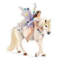 Фигурки Schleich(Германия) Эльфы в ассортименте , Принцесса Сера на желтой лошади ,Фея-эльф Олеана на белом пони