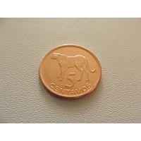 """Мозамбик. 5 сентаво 2006 год KM#133  """"Гепард"""""""