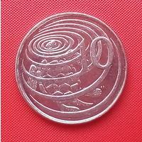 64-06 Каймановы острова, 10 центов 2005 г. Единственное предложение монеты данного года на АУ