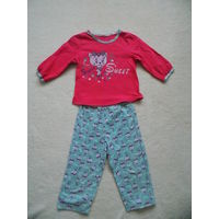 Пижама для девочки на рост 86-92