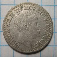 1 зильбер грошен, Пруссия, 1825 А год.