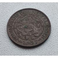 Нидерланды 1 цент, 1937 8-9-37