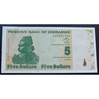 Зимбабве. 5 долларов 2009 [UNC]