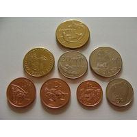 Токелау. набор 8 монет 2017 года 1,2,5,10,20,50 центов, 1 и 2 доллара UNC