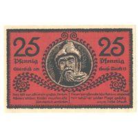 Германия Нотгельд 25 пфеннигов 1921 года. Состояние aUNC!