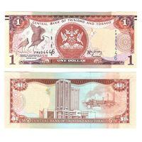 1$ Тринидад и Тобаго 2006 год 1 доллар Герб, 2 алых ибиса, Здание Центрального Банка UNC