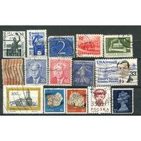 Марки разных стран - 15 марок - гашёные (Лот 2В). Старт с 1 копейки! Без минималки!