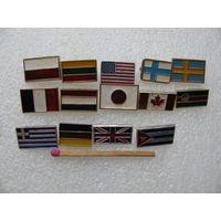 Знаки. Флаги государств. Цена за 1 шт.