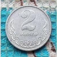 Монголия 2 менге 1977 года.