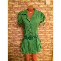 Красивое платье сочно зеленого цвета с поясом на 44-46 размер. Не подошло по размеру, приобретала на скидке за 75,00, стоило 150,00. Платье из приятной на ощупь ткани, юбка - тюльпан.