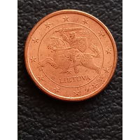 1 цент 2015 Литва