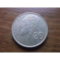 Кипр 20 центов 1993