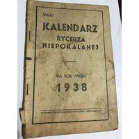 Kalendarz rycerza niepokalanej.1938r.