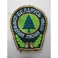 Шеврон. Государственная лесная охрана Беларусь. шитый ниткой, липучка