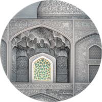 "RARE Палау 10 долларов 2020г. Тиффани ""Tiffany Art: Сефевид"". Монета в капсуле; подарочном футляре; сертификат; коробка. СЕРЕБРО 62,20гр.(2 oz)."