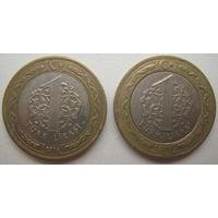 Турция 1 лира 2016, 2018 гг. Цена за 1 шт.