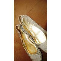 Италия. Фабричные. супер балетки кожа зебра  р.38 Канада