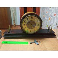 Часы СССР весна каминные с ключом, бронза, дерево, в ремонт, распродажа с рубля